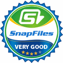Rated 4 stars at SnapFiles